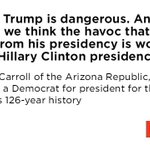 Why the Arizona Republic, which scorned FDR, JFK, and every Democrat for 126 years, endorsed Hillary Clinton. https://t.co/HCbVuo9MsG