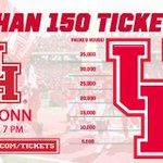 📢📢 Ticket Alert!! Less than 150 tickets remain for @UHCougarFB tonight! Purchase now & don't miss out! 713-GoCoogs & online. #HTownTakeover https://t.co/MSnUtGhaEu