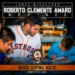 Just a few days left to #VoteMcCullers for the 2016 Roberto Clemente Award! Use the hashtag throughout the weekend to vote! https://t.co/FD0mnlGVUb