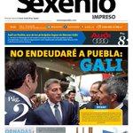 Hoy en portada: No endeudaré a #Puebla: @TonyGali #SexenioImpreso #LSDPuebla https://t.co/dy0QoS6WbH https://t.co/TvdFgurt3A
