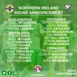 Here is the NI squad to face San Marino and Germany in our upcoming @FIFAWorldCup qualifiers!⚽️💚 #DareToDream #GAWA https://t.co/XVG41vNcQT