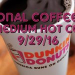 Today is #NationalCoffeeDay celebrate w/@DunkinDonuts Plus, enjoy any Med. Hot Coffee for $0.66 today 9/29 https://t.co/erPO74tJ1W