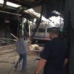 Holy crap RT @KFCBarstool Disaster this morning for the NJ commute. Train ran right through the Hoboken terminal https://t.co/0DMz87pFPP