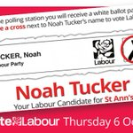 Next Thursday, St Anns residents will be asked to vote for a new Councillor. Please vote for Noah Tucker, your Labour candidate. https://t.co/Tmb9rDYeYl