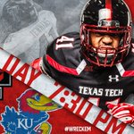 Its gameday! #TexasTech and Kansas face off tonight at 7:30 p.m., on a national @FS1 broadcast and the Texas Tech Sports Network. #WreckEm https://t.co/BAUY2ZVj5u