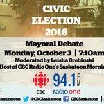 This is happening Monday! Listen live on 94.1 FM. @charlieclarkyxe @AtchisonDon @hein4mayor @moore4mayorYXE https://t.co/ZvIstJ6VgC