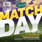 MATCH DAY! #LSU (6-6, 1-3 SEC) hosts 15th-ranked @GatorsSoccer (7-3, 2-2) at 7 p.m. CT! Admission is absolutely FREE! #AllForLSU https://t.co/ldcw1AFy4P