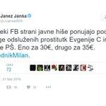Sodišče: Janšev tvit o odsluženih prostitutkah ima vse znake kaznivega dejanja. https://t.co/DXbC0rJTn9 https://t.co/hit5jtpTS6