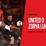 HT: United 0 Zorya 0. Rashfords hit the bar and weve ramped up the pressure but no breakthrough yet... #MUFC #UEL https://t.co/oPvWrLPrRE