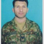 Havildar Juma Khan from Astore,Gilgit was martyred today at LoC. He leaves behind a widow, one son, 2 daughters. https://t.co/wBf7csfabo