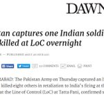 Now bit about capture of Indian soldier has disappeared from @dawn_com report https://t.co/vvwi4q0LK4 https://t.co/OYqFVd3YuG