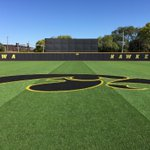 Touched up the outfield logo. @UIBaseball #FallBall #HellerBall https://t.co/A14p4EhYNJ