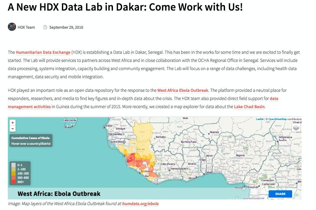 A New HDX Data Lab in Dakar
