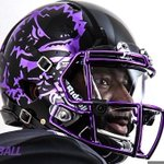 TCU unveiled these black out helmets for the Oklahoma game this weekend.  They are super slick. (via @TCUFootball) https://t.co/rVgSGLlSpy