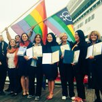 Welcoming #OliviaTravel, iconic lesbian cruise since 1973, disembarks in #SanFrancisco for 1st time! Proud to rep Olivia in #SoMa! https://t.co/zBrg5bBDaG