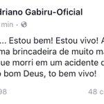 Está tudo bem com o Adriano Gabiru! https://t.co/5lTLkoQyAL