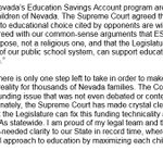 AG Laxalt issues statement on Nevadas Education Savings Account Supreme Court ruling https://t.co/XydhgqGzHR