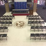 Getting set up for draft day at FMU with @GoTeamIMPACT. The Patriots will hold a special signing at 4 pm in the Smith University Center. https://t.co/V0kZoGw6dV