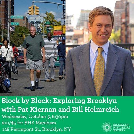 Pat Kiernan @PatKiernan: RT @brooklynhistory: On 10/5, join @NY1's @patkiernan & @NYNobodyKnows for an evening of talking about walking! https://t.co/oEytE9zOge htt…