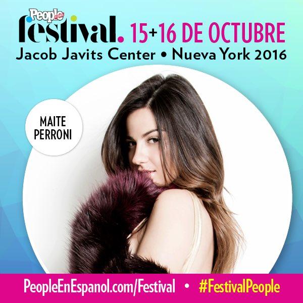 Quedan 16 días para que puedan ver @MaiteOficial en #FestivalPeople