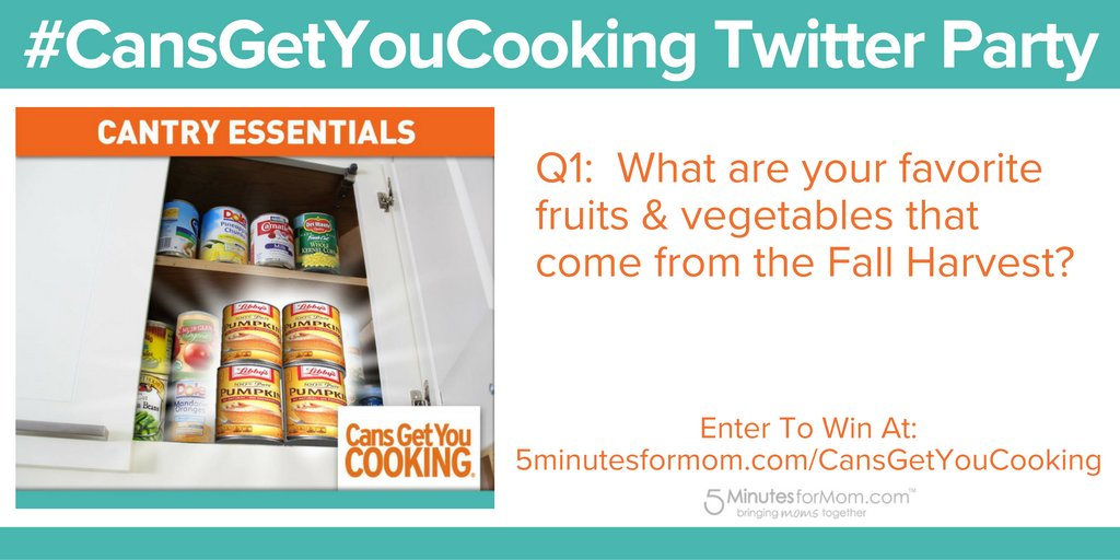 Question #1 – What are your favorite fruits & vegetables that come from the Fall Harvest? #CansGetYouCooking #ad https://t.co/wmJVxqye0d