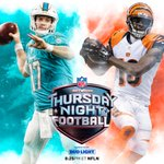 #TNF is here! @MiamiDolphins vs. @Bengals. NOW! 📺: @nflnetwork #MIAvsCIN https://t.co/Jyh2IlI0Wv