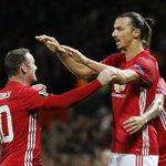 Zlatan Ibrahimovic breaking the deadlock at Old Trafford with teammate Wayne Rooney. https://t.co/rYpWoCawDK