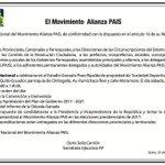 Las Bases, te RESPALDAMOS y te ACOMPAÑAMOS! Contigo Venceremos!..  @GisellaMoreiraL  @MaximAccion35AP  @MashiRafael https://t.co/xaI5tQHmRb