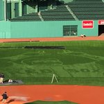 Red Sox field staffers used new machine, new technology, to cut image of David Ortiz into Fenway field. @Todd Radom https://t.co/tnVCtPxdl1