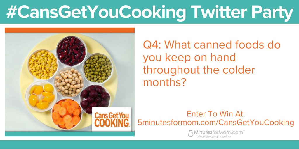 Q4: What canned foods do you keep on hand throughout the colder months? #CansGetYouCooking #ad https://t.co/0FMOq56LBm