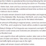 STORM UPDATE: Please see image for latest information including rail, tram and bus info, and flood advice. https://t.co/vXYxi4dwEy