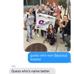 apparently my dad wasnt as excited about me winning Beyoncé tickets #ouch! https://t.co/RKaO9cv0Cf