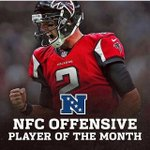 """Matt Ryan has been named NFCs """"Offensive Player of the Month"""". 🏆 #Recognize #RiseUp https://t.co/ABeY3lmnvK"""