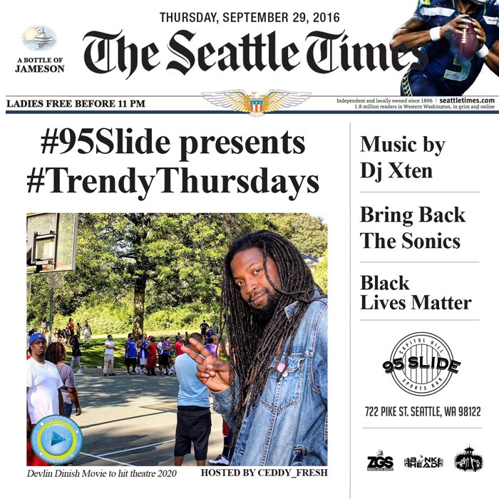 #Seattle 95 Slide Is The Move Tonight ‼️