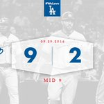 Lets close this thing out! 👊 Mid 9: #Dodgers 9⃣, Padres 2⃣ https://t.co/omdeneUE7H