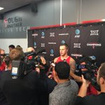 QB Nic Shimonek meets with the media following his 15/21, 271 yard, 4 TD performance. #WreckEm https://t.co/wsghoFm0aF