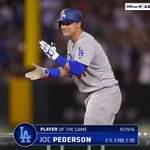 .@yungjoc650 knocked in 3 runs for the #Dodgers in series finale win to earn Player of the Game. #WeLoveLA https://t.co/Md3vuxPlsn
