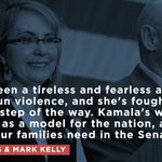 Proud to have the endorsement of @GabbyGiffords and @ShuttleCDRKelly, two tireless advocates for gun control. https://t.co/F5hRkApshV