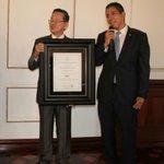 En representación del Pdte @JuanOrlandoH agradecemos al embajador Joseph Kuo su apoyo permanente al programa #OTOP https://t.co/naaAKR1DwE