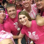 Pink out at volleyball v Mead. Go Wildcats! @PKautzman @DarrenLNelson @CalebWendle https://t.co/ity7p6onoM