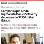 Daniel Salaverry despotrica contra el Frente Amplio pero hace mutis sobre denuncias en su contra. Qué conveniente... https://t.co/Gh78Fwlwhb