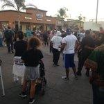Small gathering of demonstrators gather at scene of El Cajon Police shooting #NBC7 https://t.co/e2pAUIrwWu