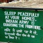 #QuoteOfTheDay: When going gets tough, Tough gets going. Sleep peacefully at your homes, #IndianArmy is guarding the frontiers. https://t.co/rLtOE4nRn5