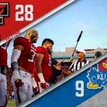 At the half: #TexasTech leads Kansas, 28-9. #WreckEm https://t.co/0PGIffzwlu