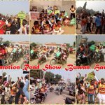 Fans in Block Buwan, Haryana conducting Road show for promotion of #7DaysToLionHeart! Enthusiasm on peak, all over! Blessings! https://t.co/7Y4GNbNWdk