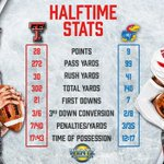 The first half stats from tonights game against Kansas. #WreckEm https://t.co/Qu0Y4wbsuV