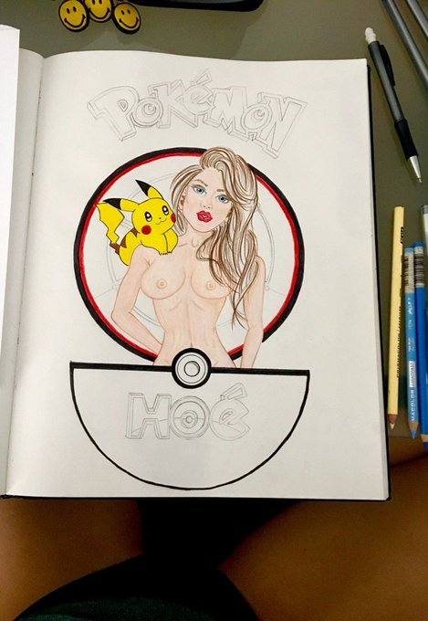#PokemonHoe #Doodle comin along, not too shabby 😊 #GottaCatchEmAll https://t.co/E9ca637w64