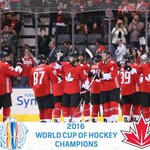TEAM CANADA ARE WORLD CUP OF HOCKEY CHAMPIONS! #WCH2016 https://t.co/aAiWS2jj36