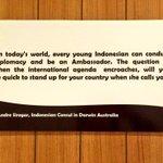 Let me congratulate those young leaders who answers their countrys call.  @Portal_Kemlu_RI @kikihakim https://t.co/B1vFJubnuS