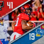 End of Q3: #TexasTech holds a 41-19 lead over Kansas. #WreckEm https://t.co/ACKVOCd5of